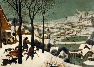 2 Cazadores en la nieve de Pieter Brueghel