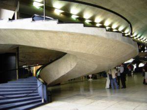 """La """"escalera de Niemeyer"""", en el Memorial de las Américas."""