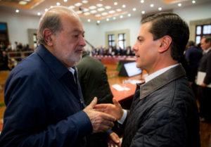 Carlos Slim y Peña Nieto