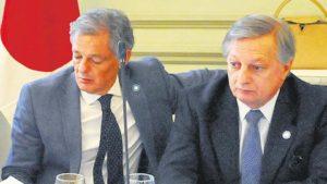 Exministros Cabrera y Aranguren