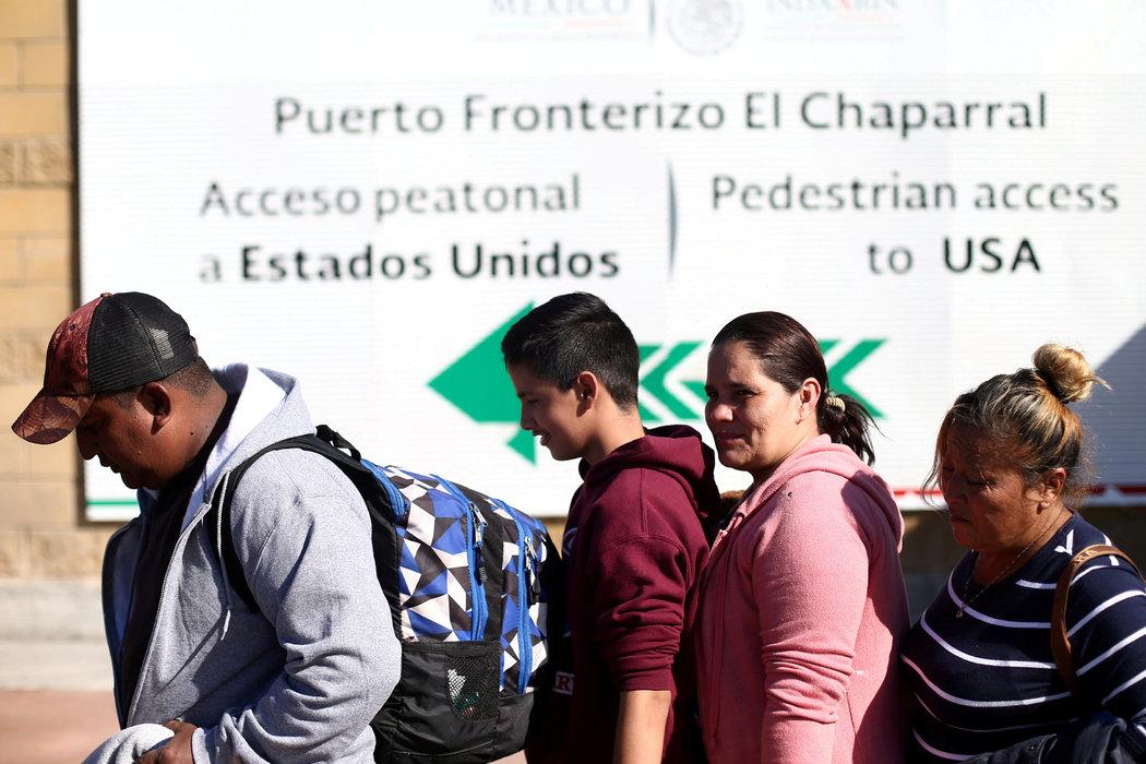 mex migrantes en frontera