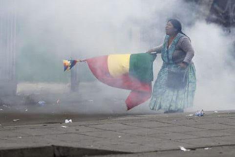 bol boliviana con bandera
