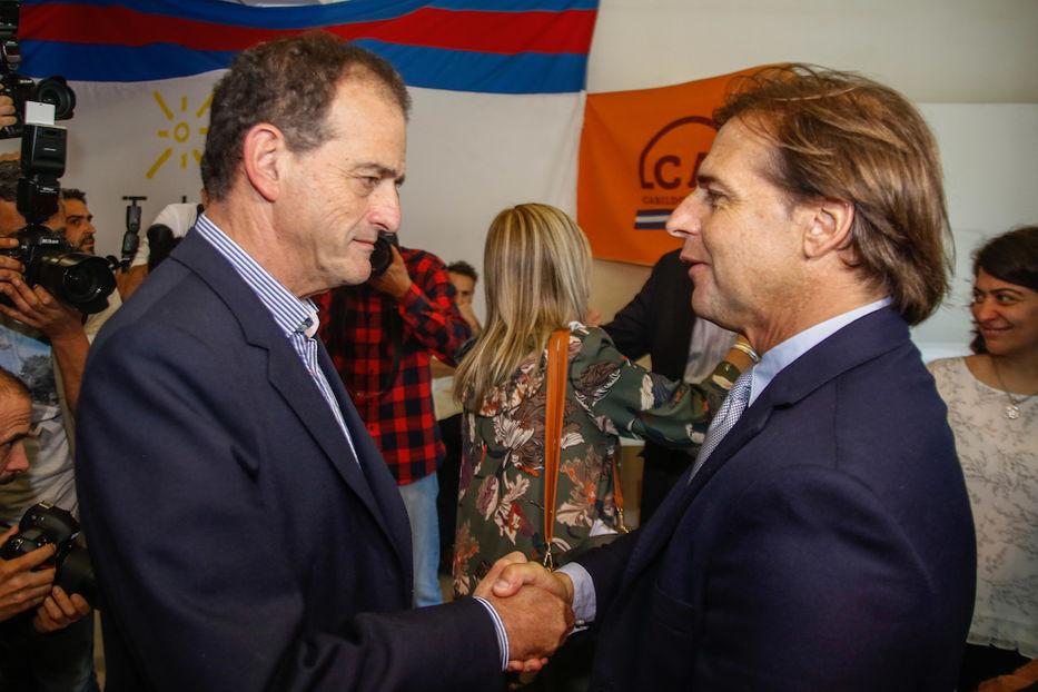 Reunion entre Luis Lacalle Por y Guido Manini Rios.