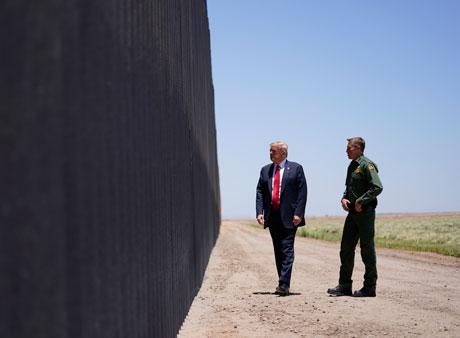 eeuu trump en el muro