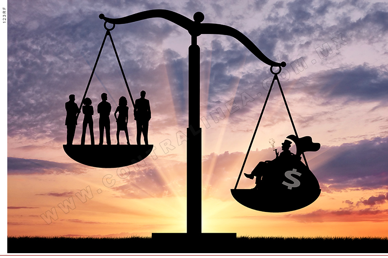 Social inequality between the rich and ordinary people